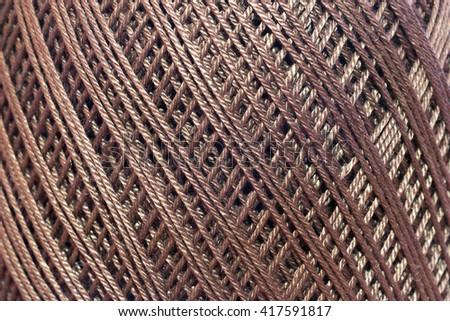 Yarn pattern - stock photo