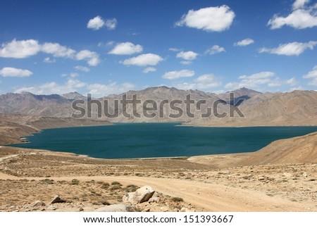 Yashikul Lake Pamir, Tajikistan - stock photo