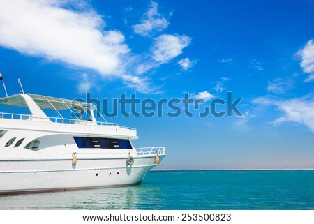 Yatch in beautiful red sea - stock photo