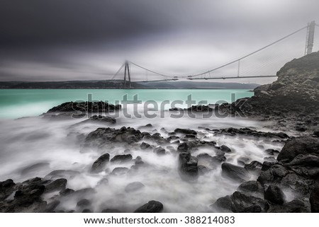 Yavuz sultan selim Bridge - stock photo