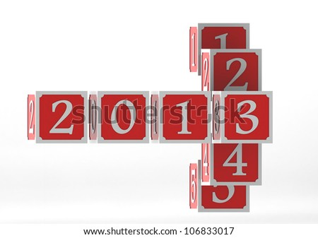 Year 2013 - stock photo
