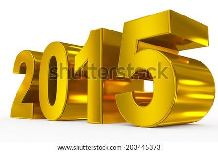 year 2015 - stock photo