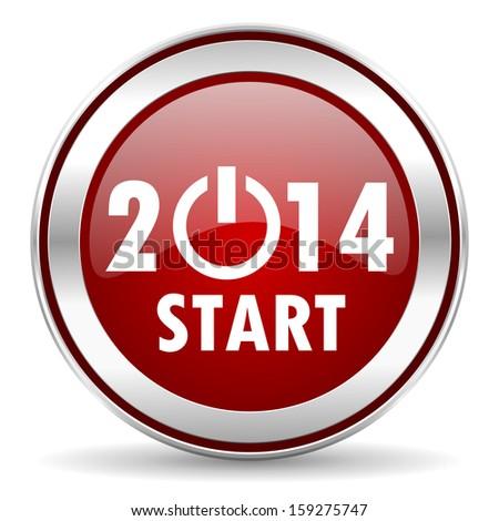 year 2014 icon  - stock photo