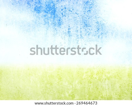Yellow and blue grunge texture and background for your design  - stock photo