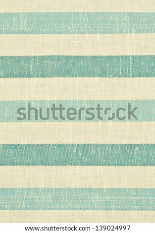 Yellow and blue striped fabric texture - stock photo
