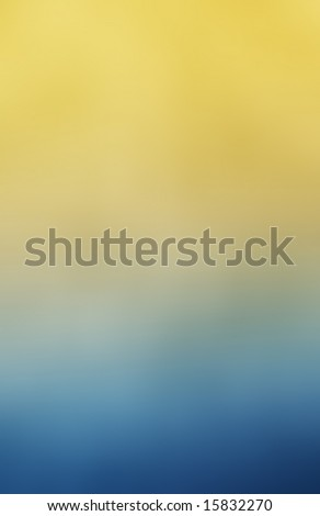 Yellow and blue textured abstract background - stock photo