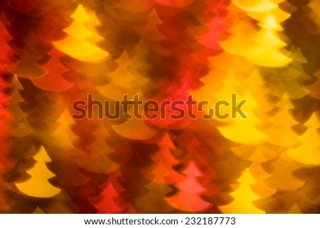 yellow and red fir trees shape photo as background - stock photo
