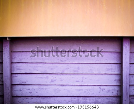 yellow and violet wooden plate wall background,grunge paint texture - stock photo