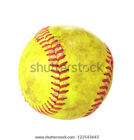 Yellow baseball - stock photo