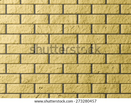 Yellow brick wall generated texture - stock photo