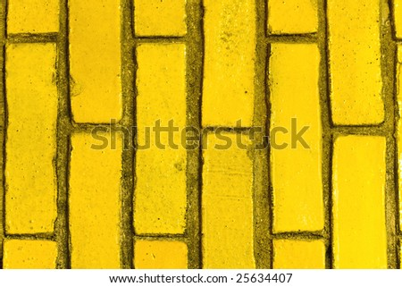 Yellow Bricks - stock photo