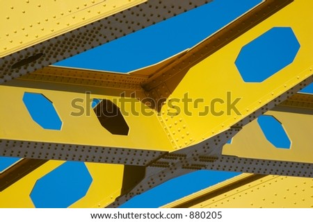 Yellow Bridge Detail - stock photo
