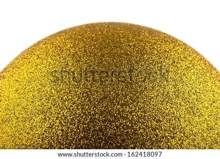 yellow brilliant ball on a white background - stock photo