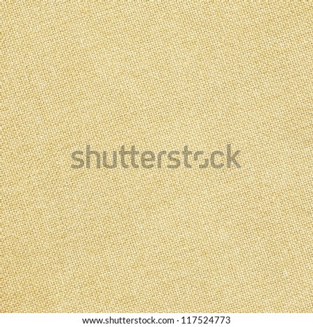 Yellow burlap texture - stock photo