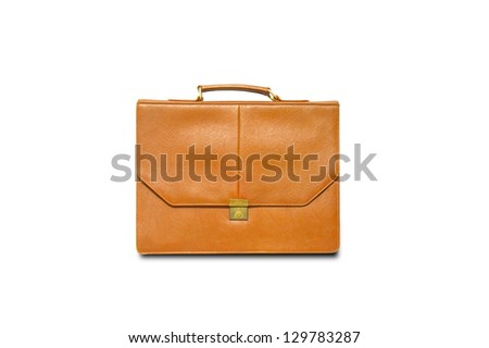 Yellow business bag - stock photo