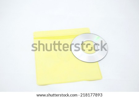 Yellow CD Case isolate on white background - stock photo