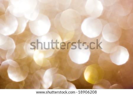 Yellow circular reflections - stock photo