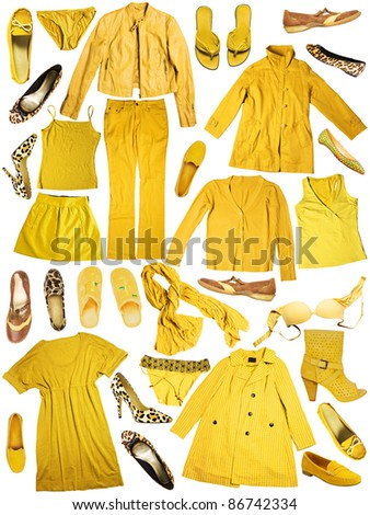 yellow clothes - stock photo