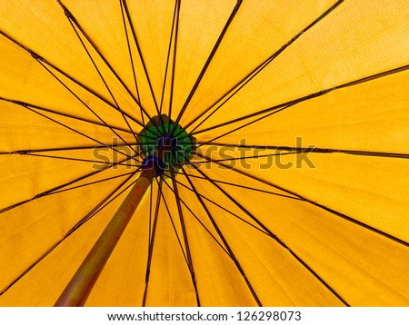 yellow color umbrella - stock photo