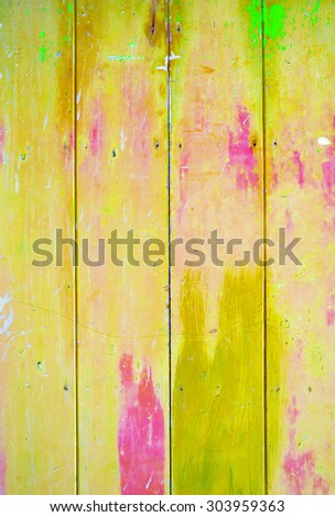 Yellow colorful vintage background with shabby distressed grungy texture hippie style  - stock photo