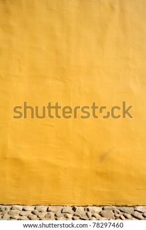 Yellow Concrete Wall - stock photo