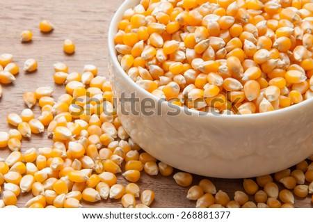 Yellow corn grain - stock photo