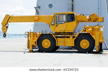 Yellow crane - stock photo