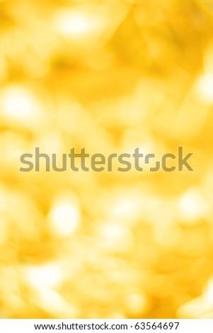 Yellow defocused lights background - stock photo