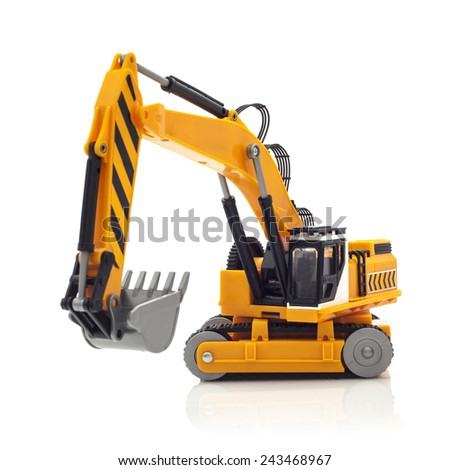 Yellow Digger on a White Background - stock photo