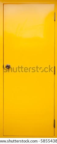 Yellow Door - stock photo