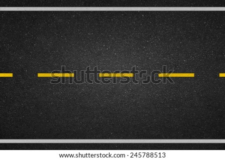 Yellow dot lines on the road  - stock photo