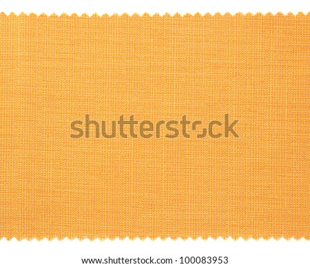Yellow fabric swatch samples texture - stock photo