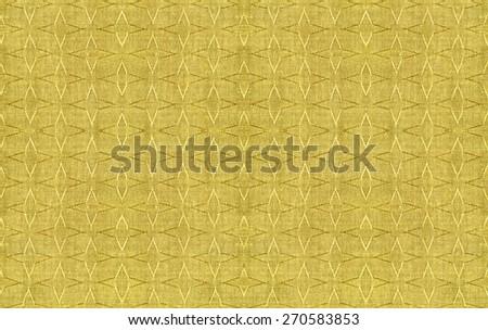 yellow fabric texture background - stock photo