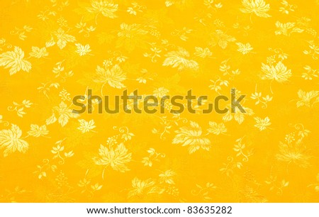yellow floral background - stock photo