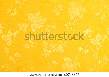 Yellow floral pattern - stock photo