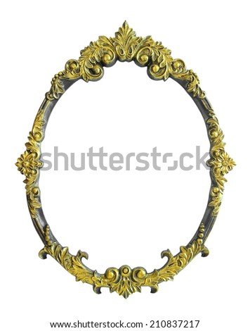 Yellow Flower Photo Frame isolated on white background - stock photo