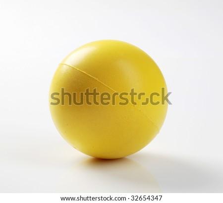 Yellow foam ball - stock photo