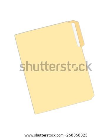 Yellow Folder - stock photo