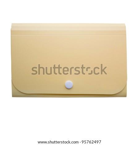 yellow folder on isolated background - stock photo