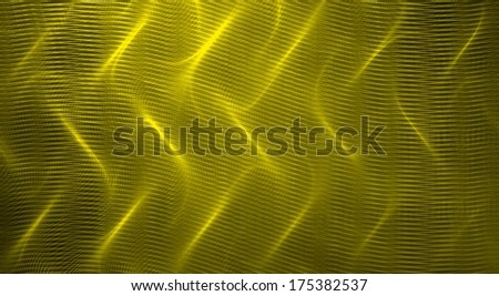 Yellow fractal abstract background - stock photo