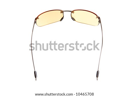 yellow glasses. isolated on white background - stock photo