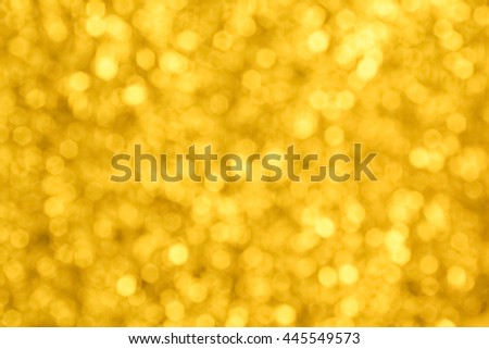 yellow gold luxury glitter bokeh background for christmas happy new year - stock photo