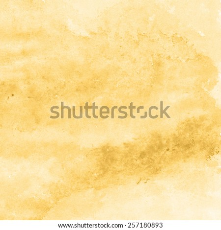 yellow gold watercolor texture background, hand painted - stock photo