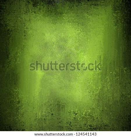 yellow green background black border edges with bright center spotlight, vintage grunge background texture layout, abstract gradient background, luxury olive green paper or wall paint for brochure ad - stock photo