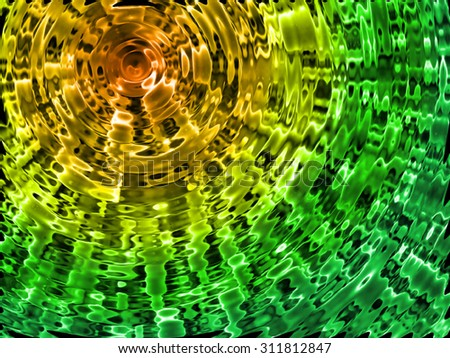 yellow-green radial background - stock photo