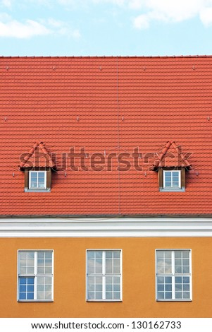 Yellow house - stock photo