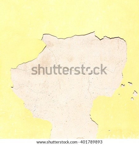 yellow  in europe italy old wall and antique contruction   yellow       color - stock photo