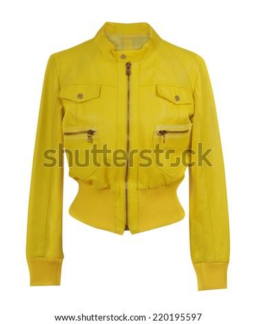 yellow jacket isolated on white - stock photo