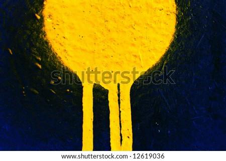 Yellow leaking paint - stock photo