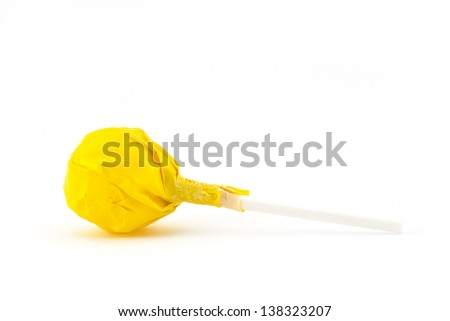 Yellow Lollipop - stock photo